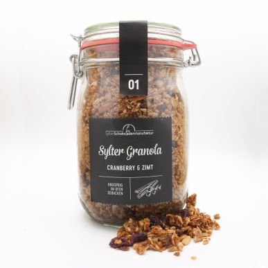 Sylter Granola 01 Cranberry & Zimt im Glas